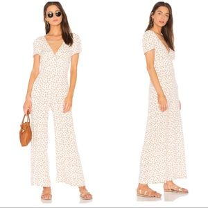NWT Free People MIA short sleeve jumpsuit in ivory
